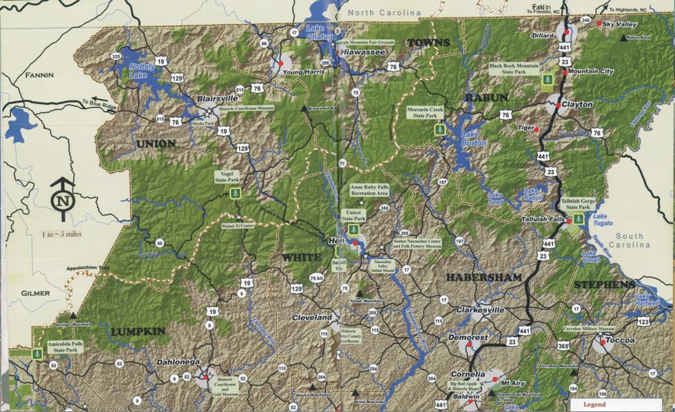 Map of North East Georgia